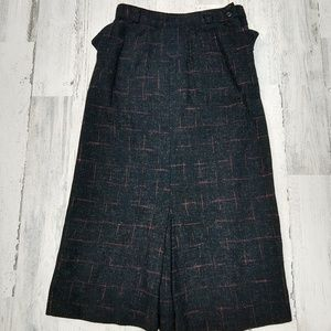 Vintage 60s Handsewn Highwaisted Pencil Skirt